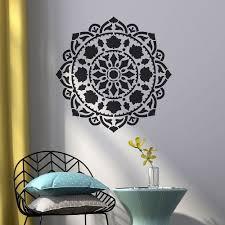 Atma Mandala Stencil Large Mandala Stencils For Walls Furniture And Floors