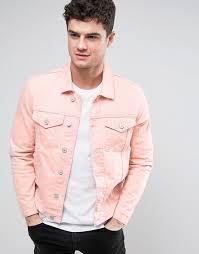 men river island denim pink pink jacket
