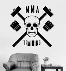 Vinyl Wall Decal Mma Training Martial Arts Fight Club Sports Stickers Wallstickers4you