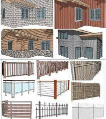 Instant Fence And Railing From Vali Architects In Sketchup Sketchup World