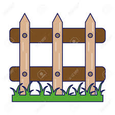 Garden Fence With Grass Cartoon Royalty Free Cliparts Vectors And Stock Illustration Image 119175569
