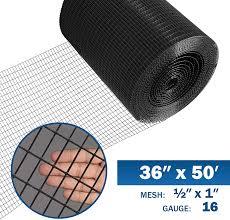 Amazon Com Fencer Wire 16 Gauge Black Vinyl Coated Welded Wire Mesh Size 0 5 Inch By 1 Inch 3 Ft X 50 Ft Garden Outdoor