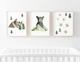 Brody S Bear Mountain Woodland Digital Nursery Art Set Caden Lane