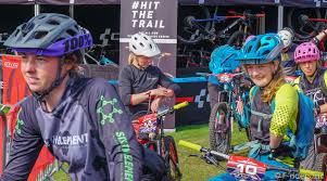 Abigale Lawton, Polly Henderson, Roslynn Newman, Fiona Beatie in Peebles,  Scotland - photo by f-riders-inc - Pinkbike