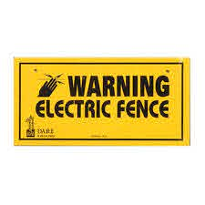 Warning Signs Electricfencecompany