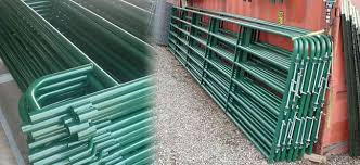 Hdg Steel Rails Welded Corral Panels And Gates For Cattle Fencing