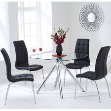 glass dining set 4 coloured chairs