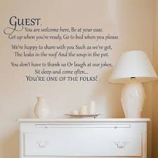 Guest You Are Welcome Here Wall Decal A Great Impression