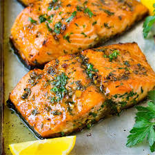 Baked Salmon with Garlic Butter ...