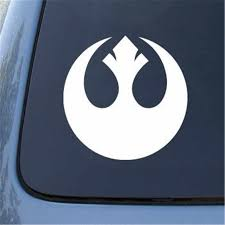 Rebel Alliance Star Wars 5 5 White Vinyl Decal Sticker For Car Automobile Laptop Notebook Any Smooth Surface Windows Bumpers Stickers For Sticker For Carstickers Stickers Aliexpress