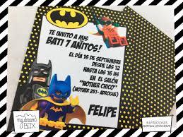 Tarjetas Invitacion Evento Cumple Infantil Heroe Lego Batman