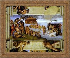 the flood 24x20 gold ornate wood framed