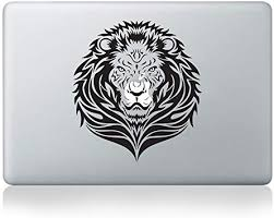 Amazon Com Tribal Lion Vinyl Decal For Macbook 13 15 Or Laptop Computers Accessories