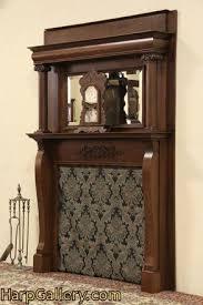 sold victorian oak fireplace mantel
