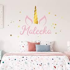 Amazon Com Unicorn Name Wall Decal Custom Name Unicorn Decal Girls Name Decal Personalized Name Unicorn Wall Decal Nursery Decal Girls Room Decal Handmade