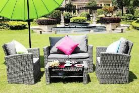 4 seater rattan garden furniture set