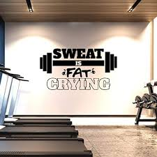 Amazon Com Extra Large Gym Wall Decal Sweat Is Fat Crying Xl 3 Ft X 6 Ft Big Lettering Home Or Gym Wall Decor Inspirational Motivational Wall Sticker For