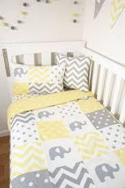 patchwork nursery set yellow and grey