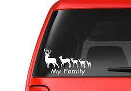 Deer Family F16 Vinyl Decal Sticker Car Truck Laptop Window Free Shipping Ebay