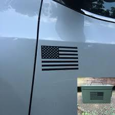 2ea Black American Flag Decals Set Military Vinyl Usa Car Truck Jeep Sticker Ebay