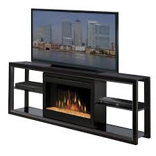 electric fireplace with glass ember bed