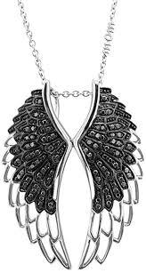 mom s angel feather wing black diamond