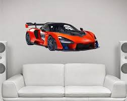 Race Car Wall Decal Etsy