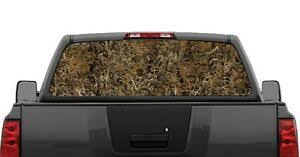 Camo Grassland Hunting Rear Window Decal Graphic For Truck Suv Van Ebay
