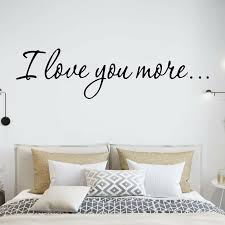 Vwaq I Love You More Wall Decal Reviews Wayfair