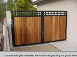 Custom Metal Gates Sharing Interior Designs Architecture And Modern Home Designs House Gate Design Backyard Gates Wood Gate