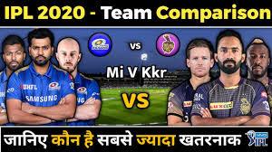 IPL 2020 - MI vs KKR Team Comparison ...