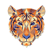 Clemson Geometric Tiger Decal Palmetto Moon Online