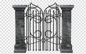Metal Gate Drawing Fence Iron Architecture Column Door Transparent Background Png Clipart Hiclipart