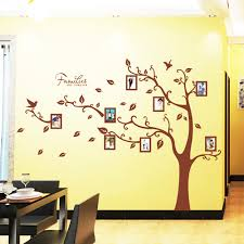 1 Set 65 85 Inch Brown Family Tree Wall Decal Large Size Family Tree Wall Sticker Photo Frame Wallpaper Frames Wallpapers Wall Sticker Photofamily Tree Wall Decal Aliexpress