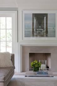 modern white fireplace mantel with