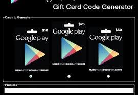 gift card google play code generator