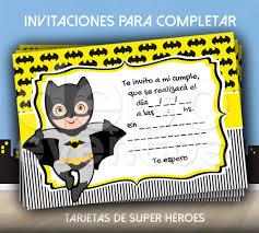 Tarjeta Invitacion Cumpleanos P Imprimir Super Heroes Batman