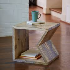 wooden bookshelf coffee table in