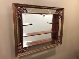 wood wall shadowbox curio cabinet