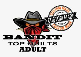 Top Quilts Bandit Hobby Vinyl Decal Cowboy Attack Hobby Decor 18 X 16 8 800x520 Png Download Pngkit