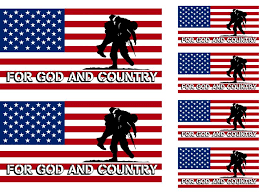 Usa Flag Decal With Wounded Warrior
