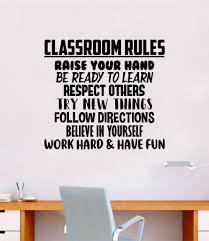 Classroom Rules Quote Decal Sticker Wall Vinyl Decor Art Room Teacher Boop Decals