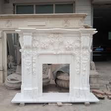 natural stone marble fireplace