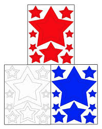 Star Wall Sticker Sin Red White Blue July 4th Decals