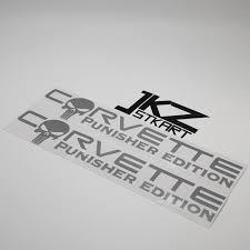 Jkz Stkart 2 Pa Vinyl Die Cut Car Sticker Decal Corvette Punisher Edition 20 X 3 5 Cm Motor Bike Laptop Helmet Stickers Car Stickers Aliexpress