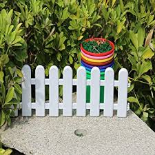 10 Pcs Plastic Fence Garden Border Fence Lawn Edge For Parks Kindergartens Christmas Decorations White Amazon Co Uk Diy Tools
