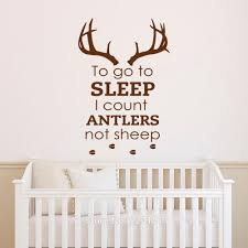 To Go To Sleep I Count Antlers Not Sheep Wall Words Decal Sticker Boy Thenordictradingco Com