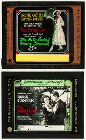 """The Firing Line (Paramount, 1919). Glass Slides (2) (3.25"""" X 4""""). 