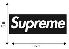 X2 Big Supreme Vinyl Decal Sticker Snowboard Car Skate Motocross Laptop Ebay