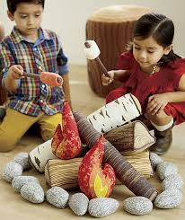 Crate And Kids Plush Campfire Set For Camping Pretend Play In Your Own House Modern Baby Toddler Products